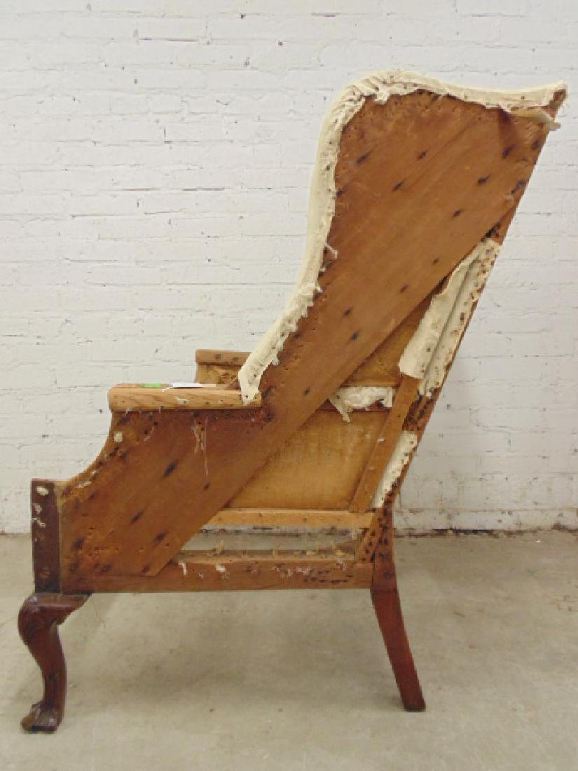 Period wing chair frame, Chippendale feet - 5