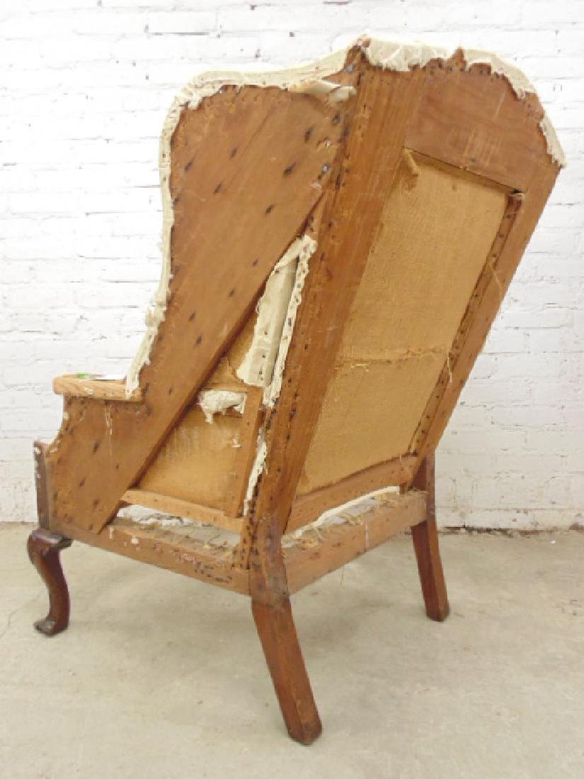 Period wing chair frame, Chippendale feet - 6