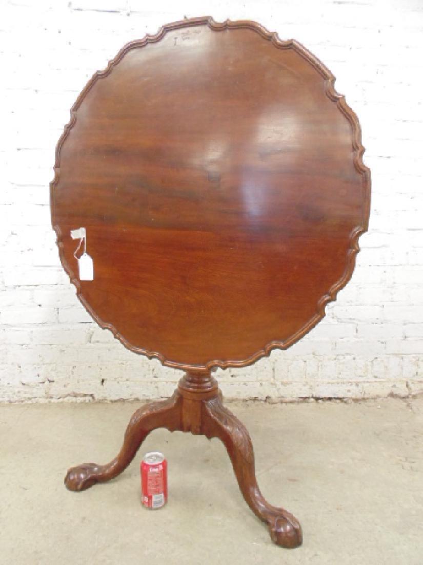 Mahogany Chippendale tilt top birdcage table