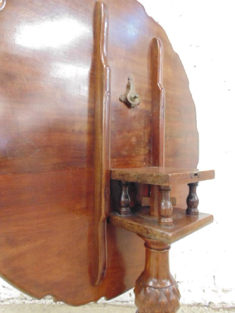 Mahogany Chippendale tilt top birdcage table - 3