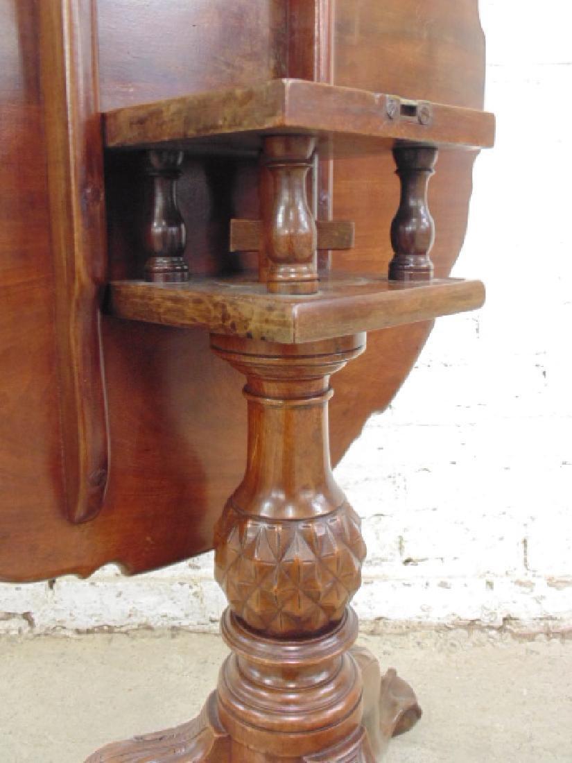 Mahogany Chippendale tilt top birdcage table - 4