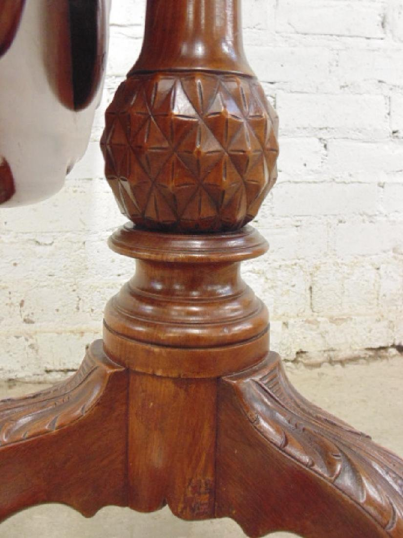 Mahogany Chippendale tilt top birdcage table - 5