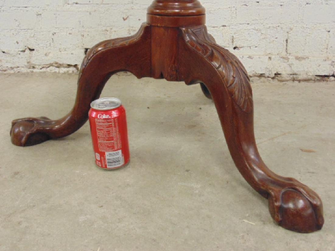 Mahogany Chippendale tilt top birdcage table - 6