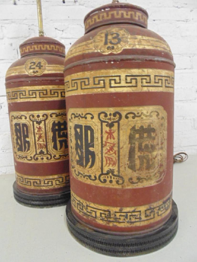 Pair canister lamps, Parnall & Sons Ltd - 4