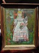 """Painting, """"Sicilian Girl"""",  Henry Lawrence Faulkner"""