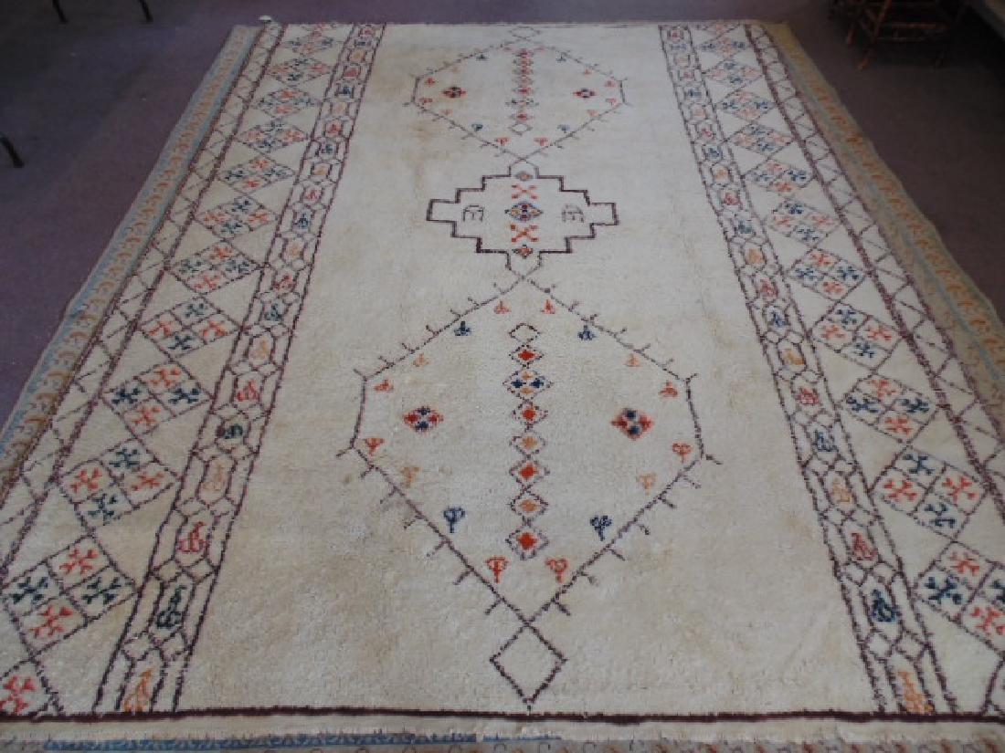 Wool rug, diamond pattern, mid Century
