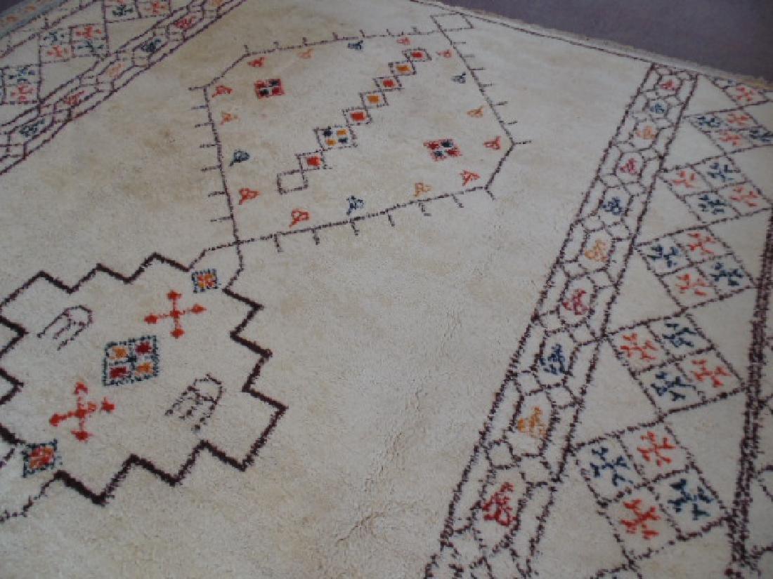 Wool rug, diamond pattern, mid Century - 2