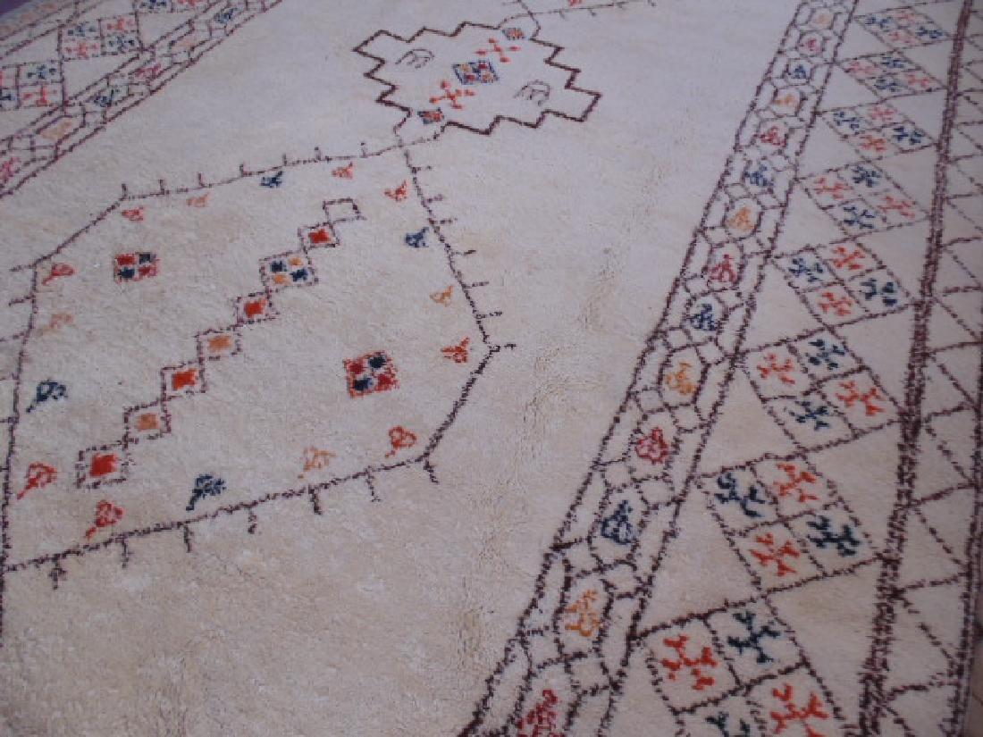 Wool rug, diamond pattern, mid Century - 3