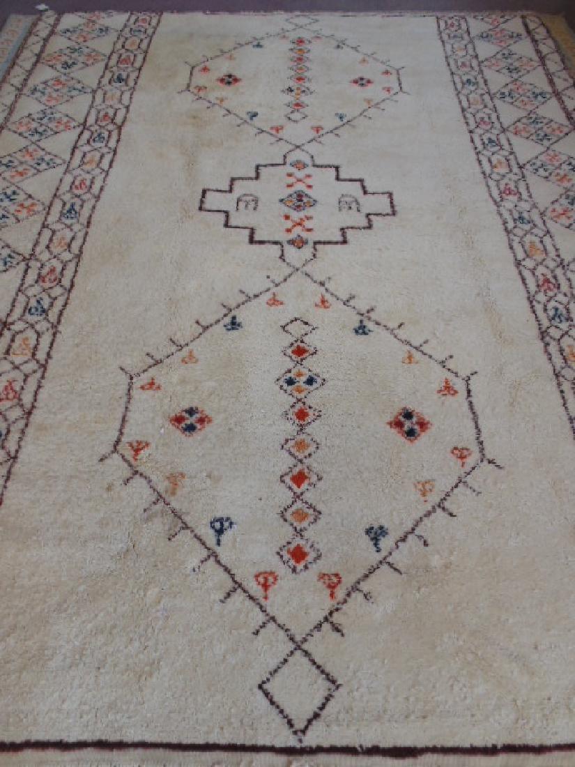 Wool rug, diamond pattern, mid Century - 4