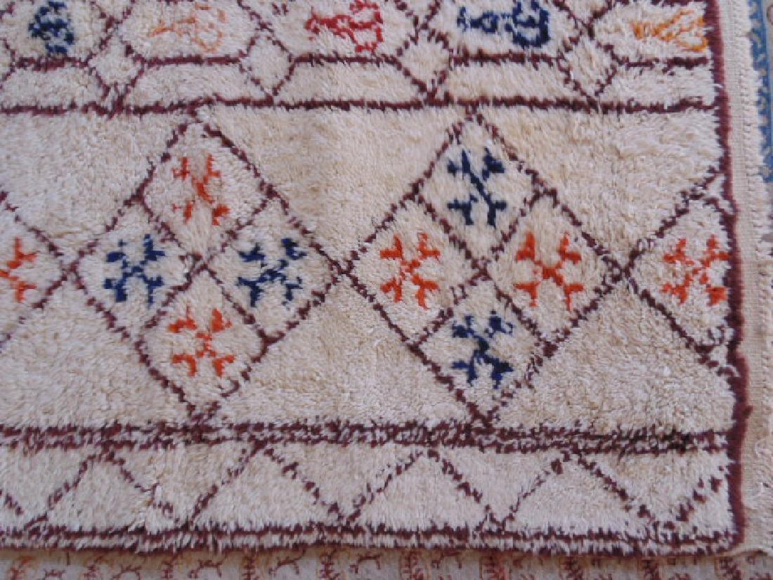 Wool rug, diamond pattern, mid Century - 5