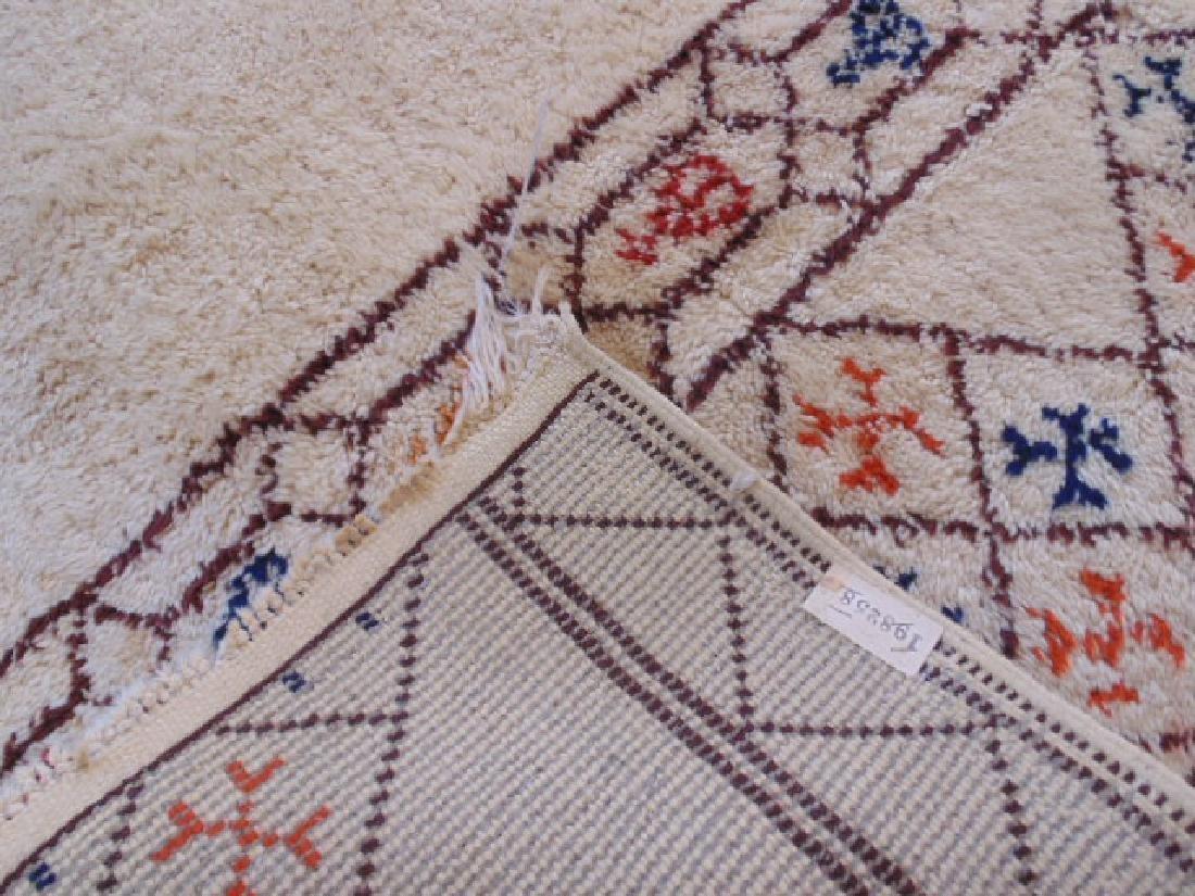 Wool rug, diamond pattern, mid Century - 6