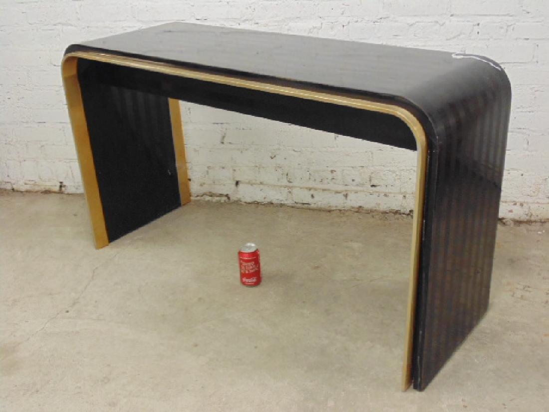 Laminate & brass console table