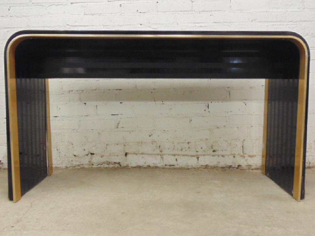 Laminate & brass console table - 2