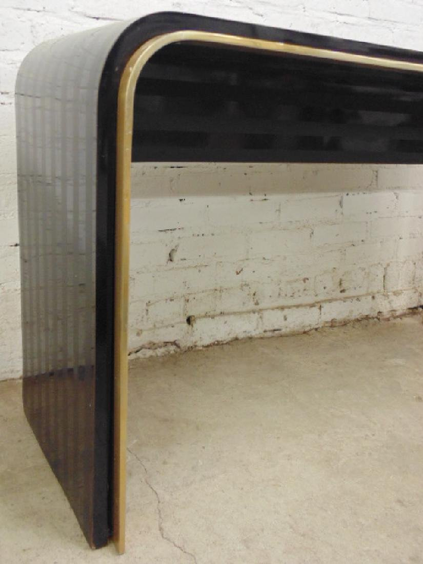 Laminate & brass console table - 3
