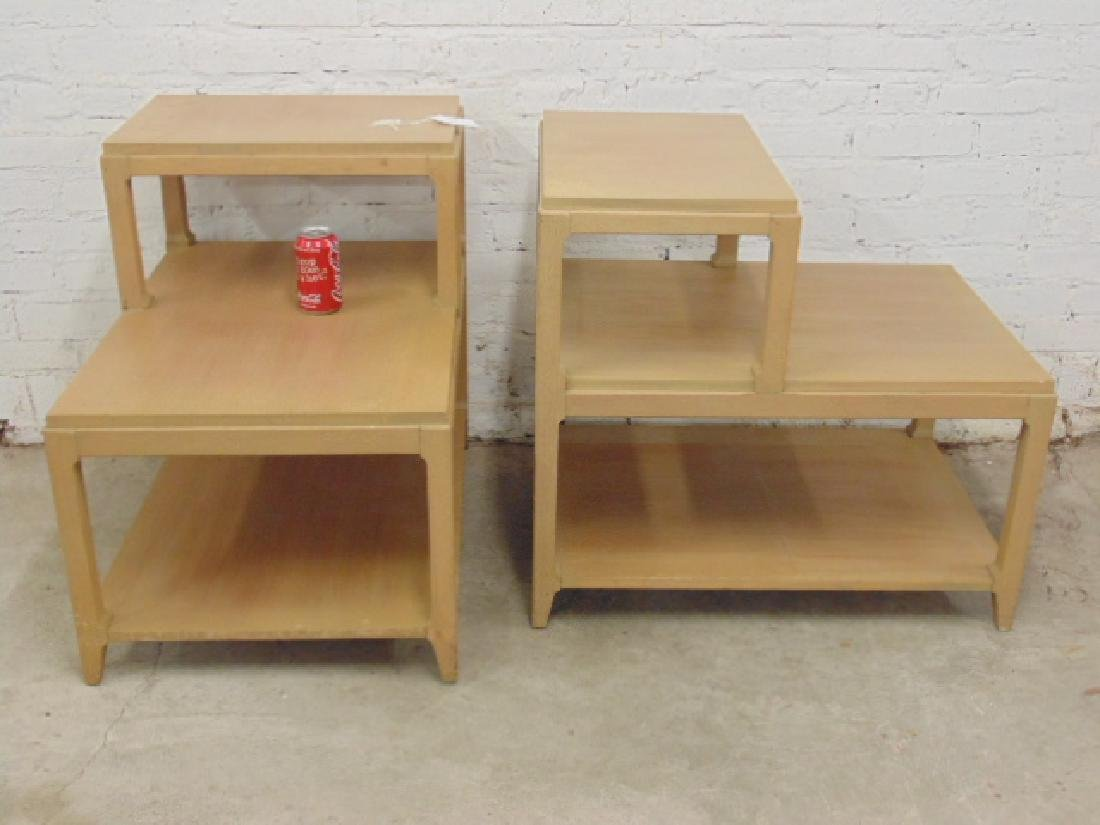 Pair mid Century step back end tables