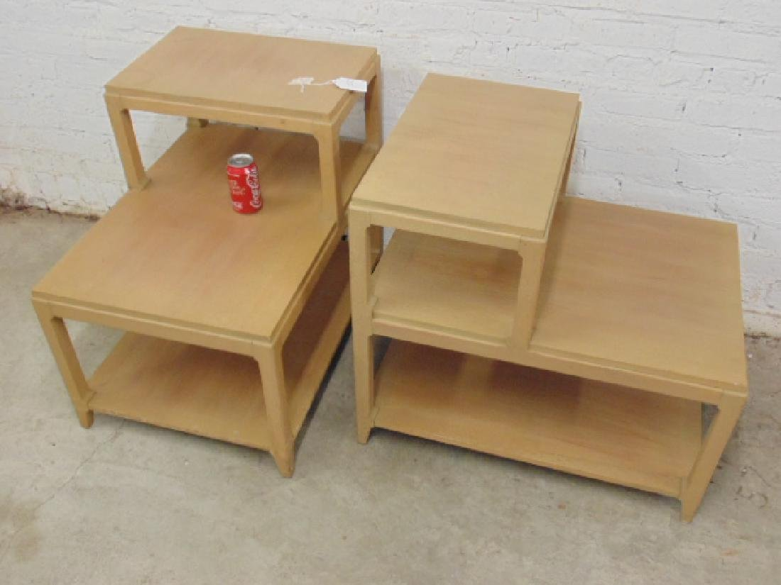 Pair mid Century step back end tables - 2