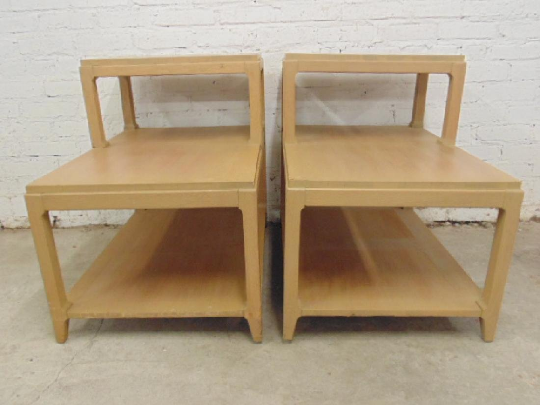 Pair mid Century step back end tables - 3