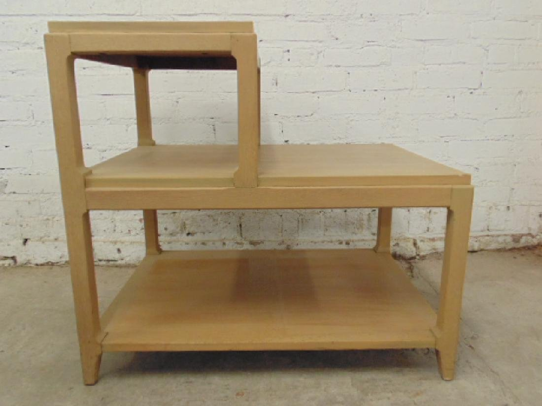 Pair mid Century step back end tables - 4