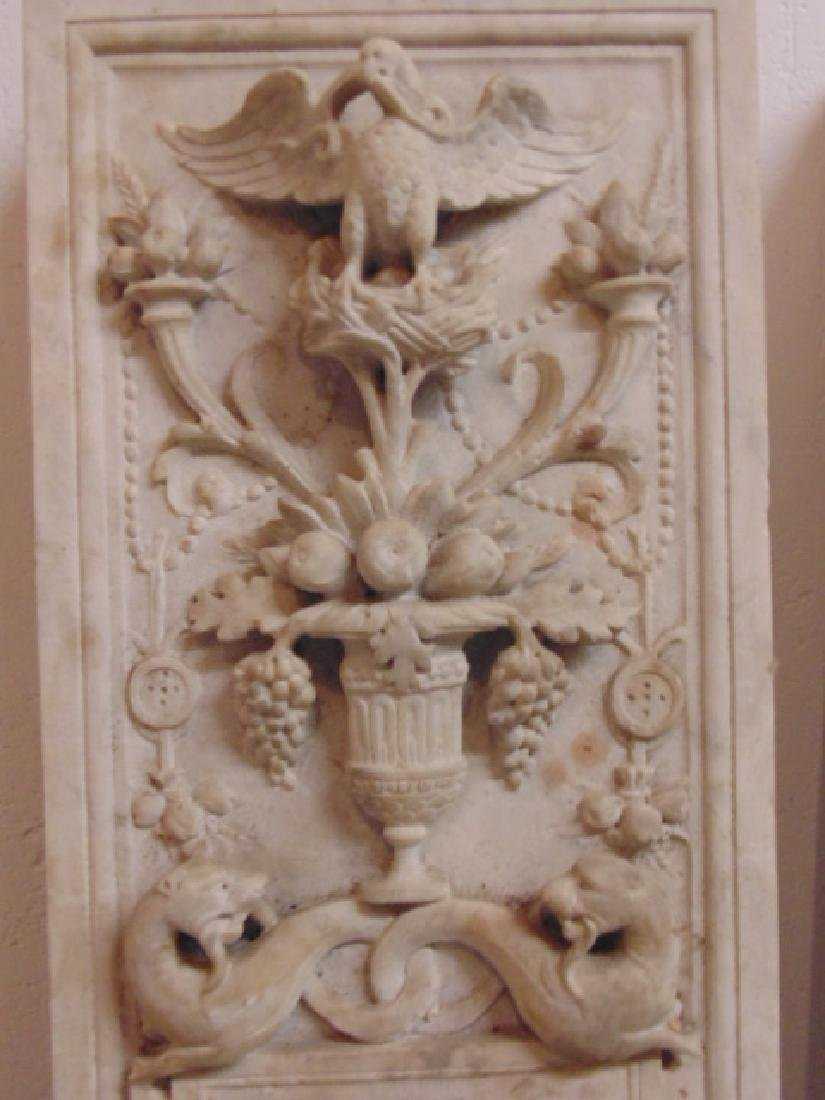 19th Century gilded age carved Italian marble fireplace - 8