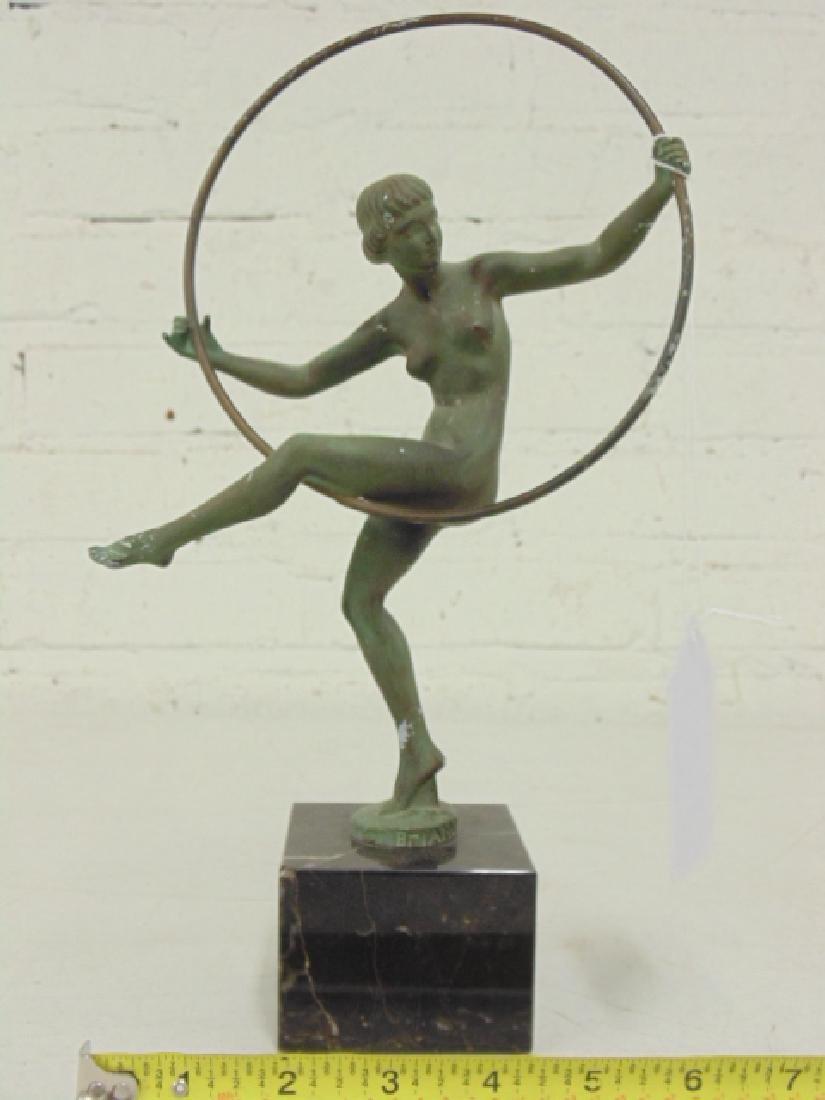 Deco figural bronze, Marcel André Bouraine