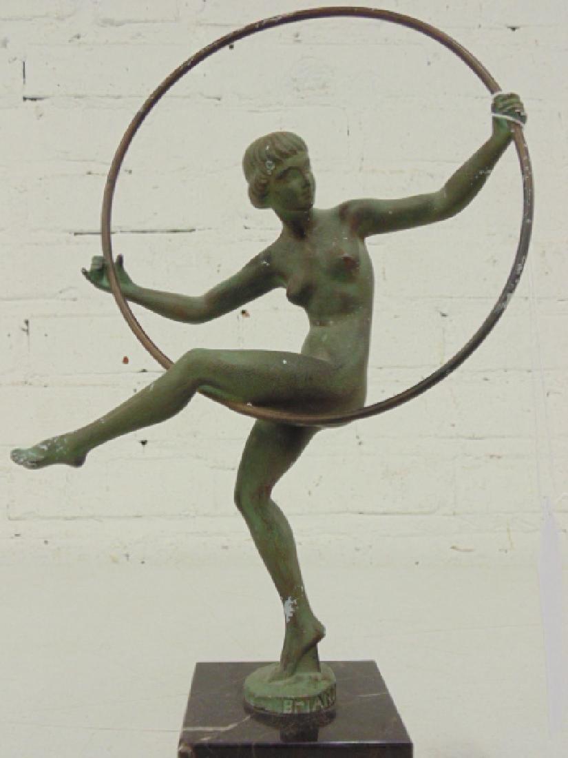 Deco figural bronze, Marcel André Bouraine - 2