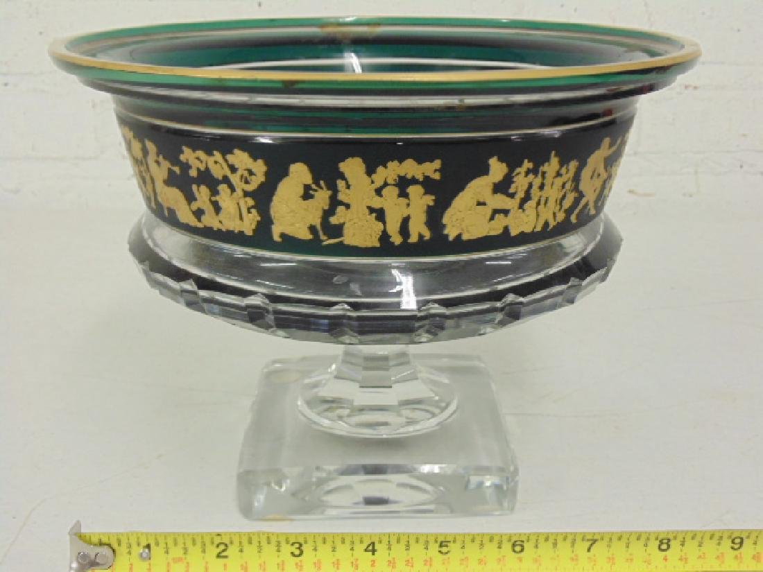 Val St. Lambert art glass centerpiece bowl