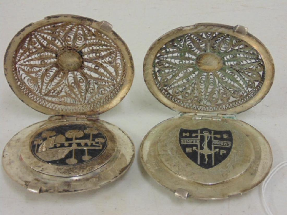 2 fine filigree compacts, Iran, Khorram Shar