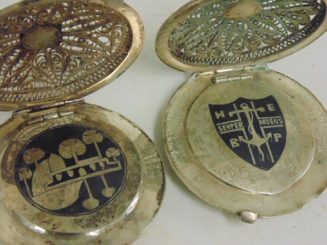 2 fine filigree compacts, Iran, Khorram Shar - 2