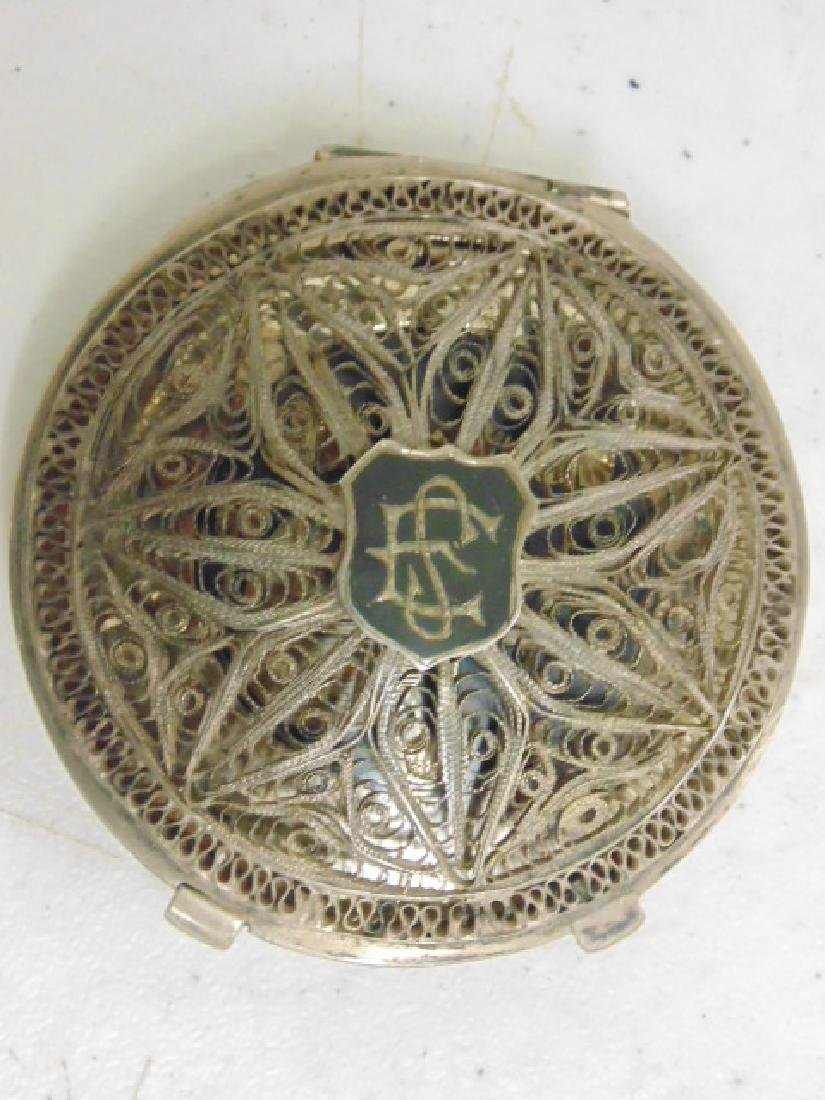 2 fine filigree compacts, Iran, Khorram Shar - 3