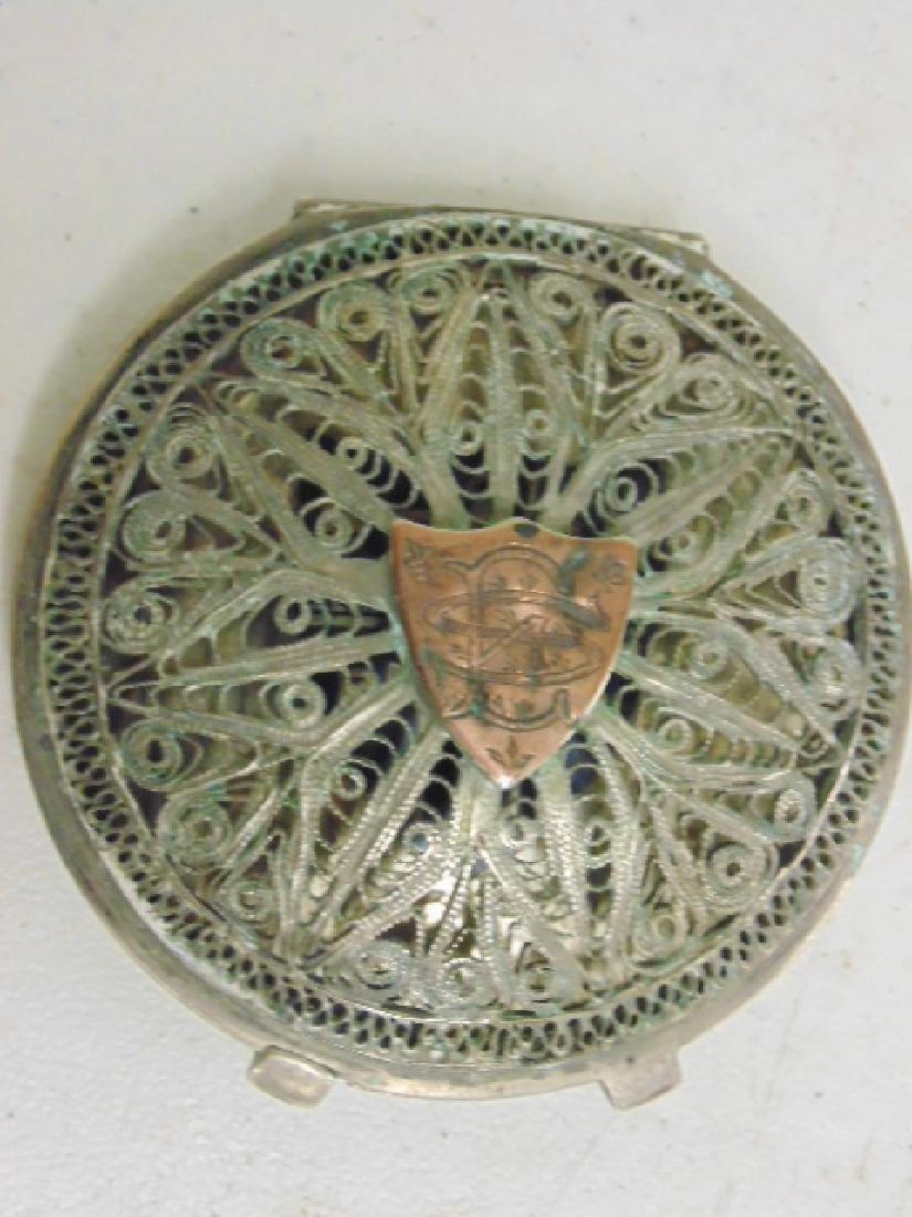 2 fine filigree compacts, Iran, Khorram Shar - 4