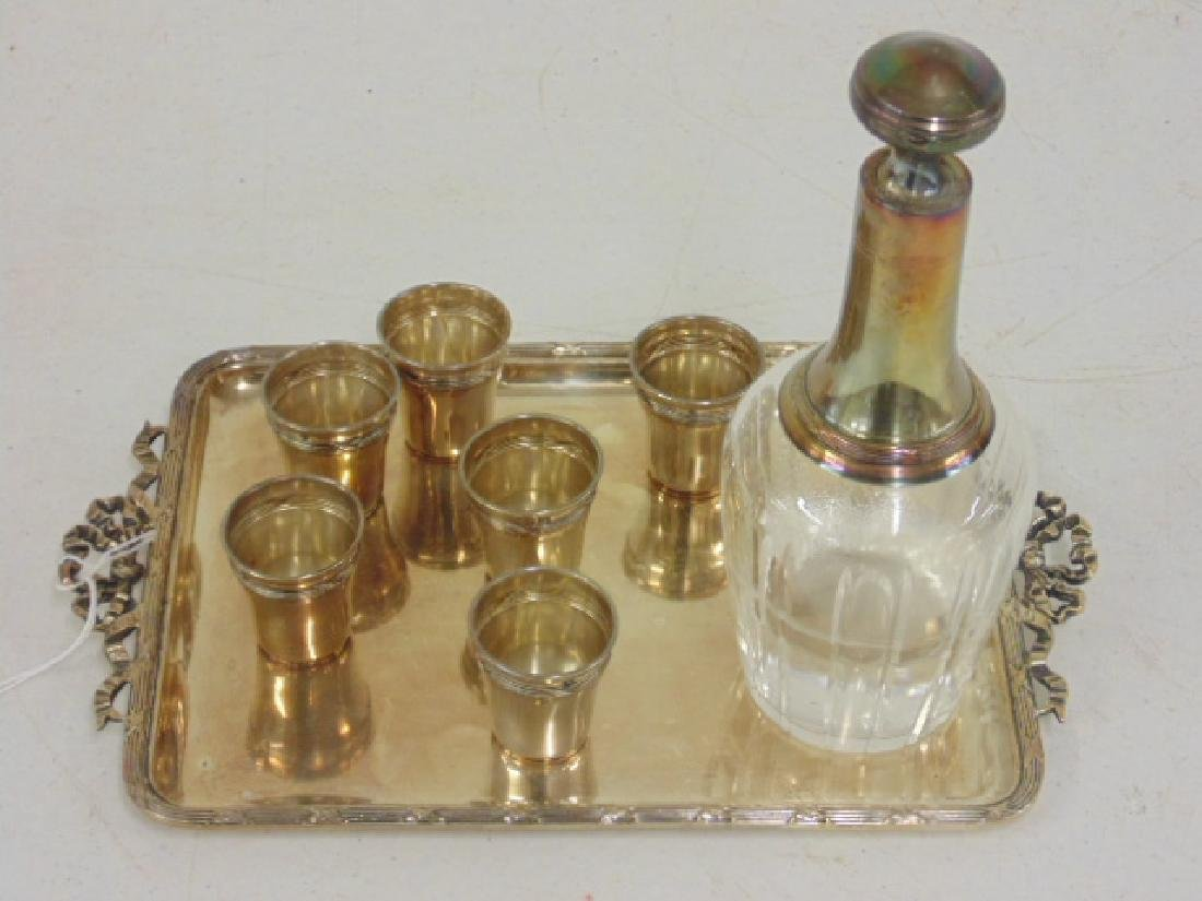 Small silver cordial set
