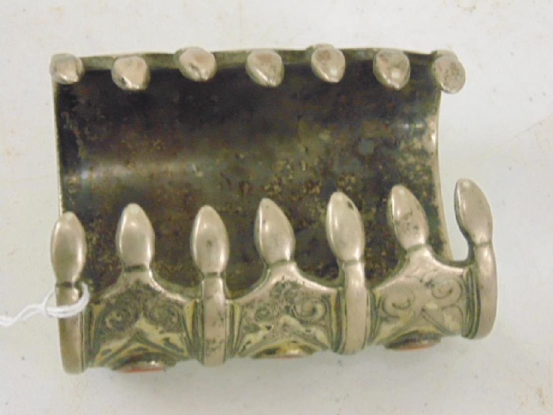 Silver cuff inlaid with stones - 3