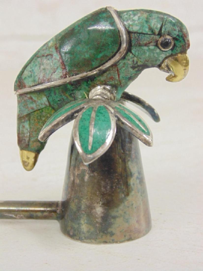 Emilia Castillo plateado candle snuffer, stone parrot - 3