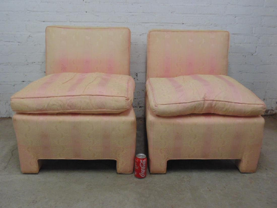 Pair mid Century upholstered chairs