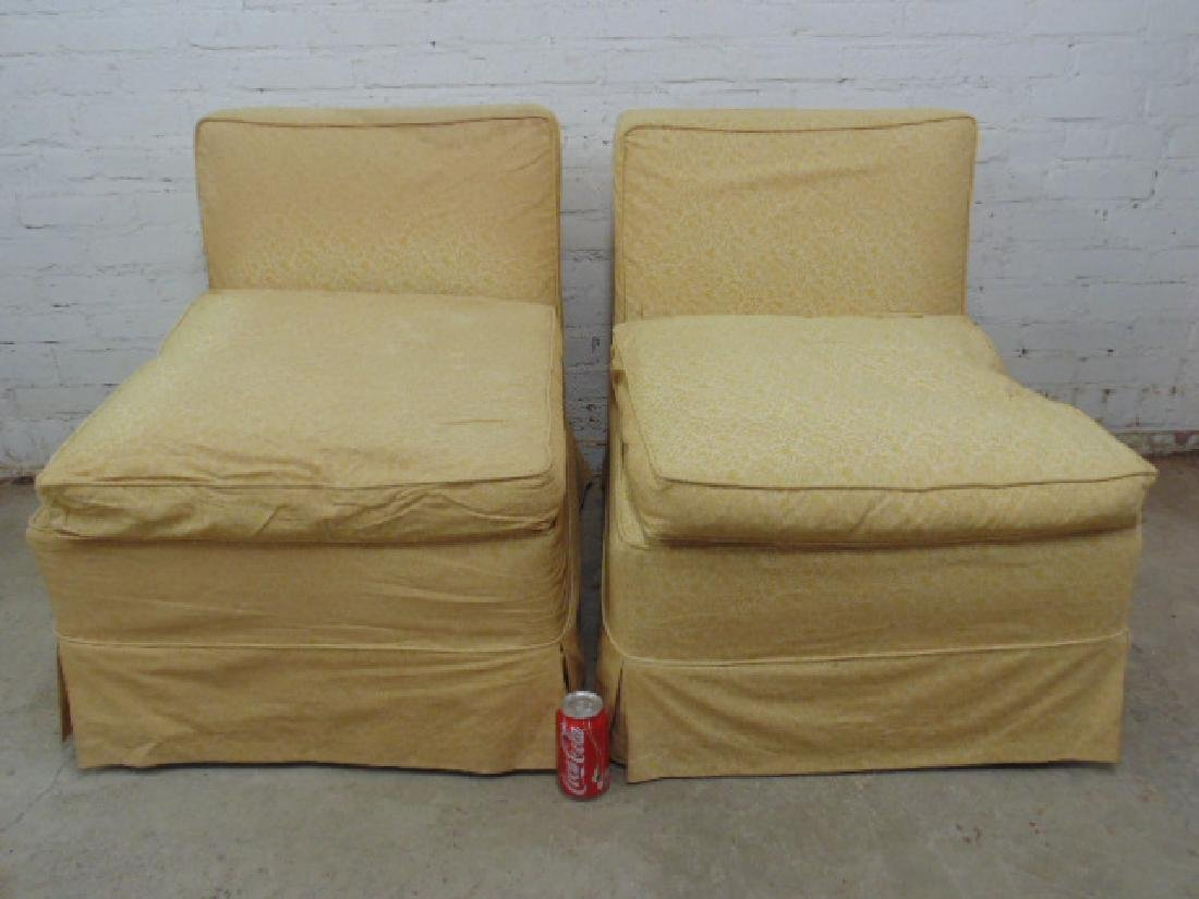 Pair mid Century upholstered chairs - 2