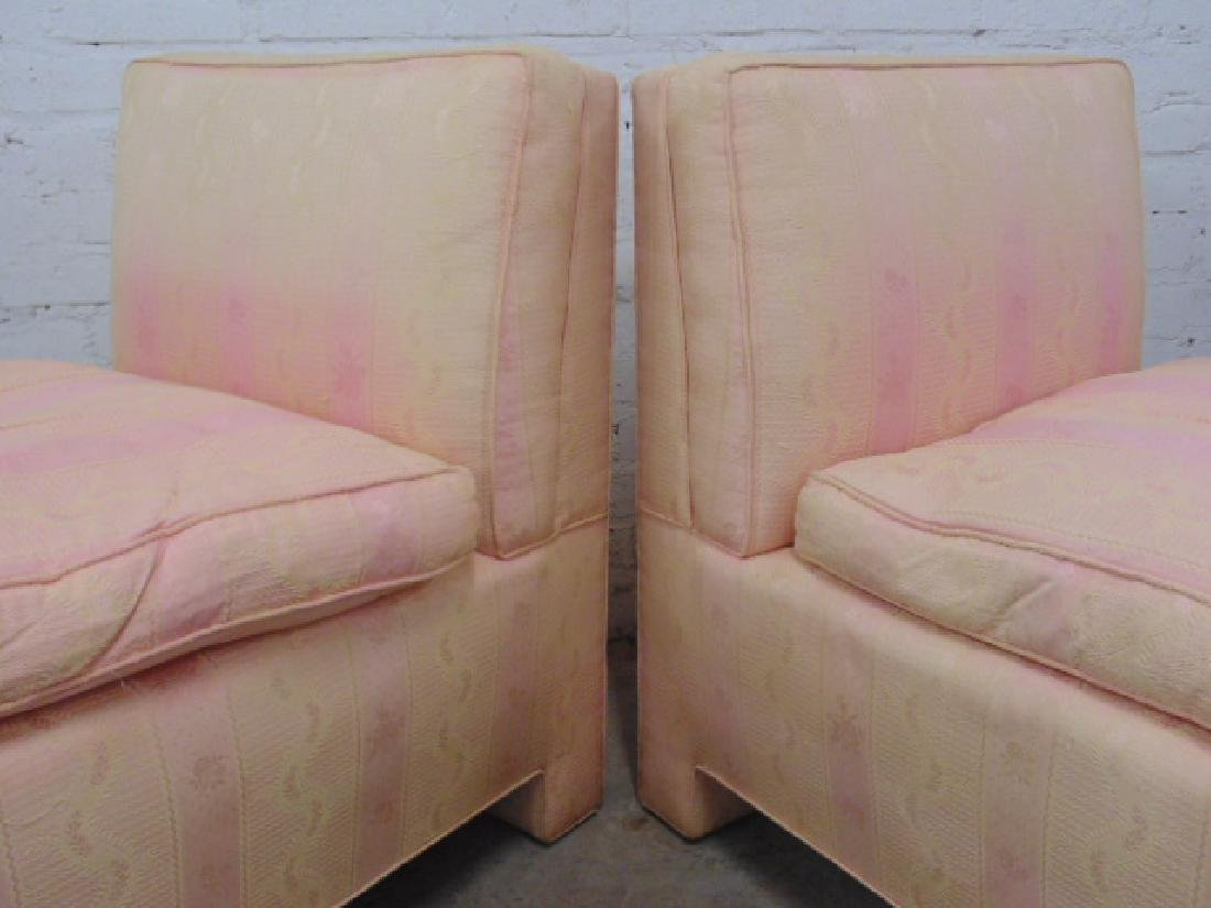 Pair mid Century upholstered chairs - 4