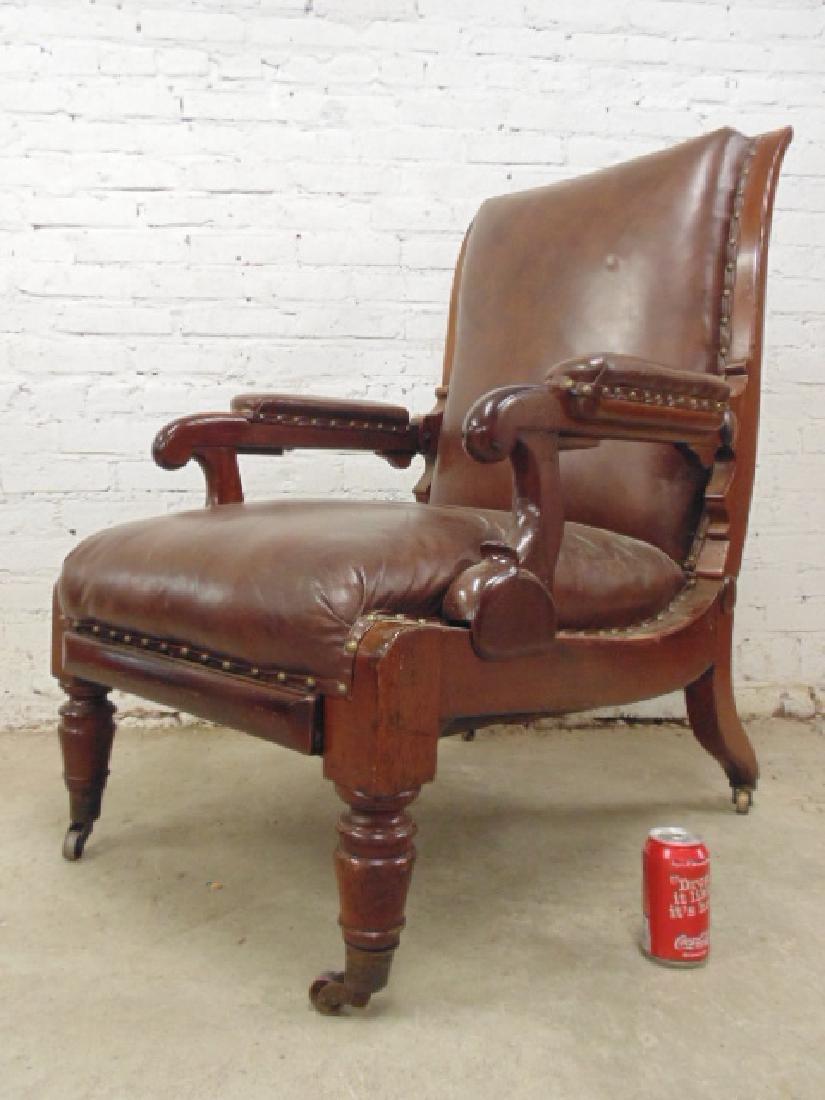 Adjustable leather mechanical recliner,