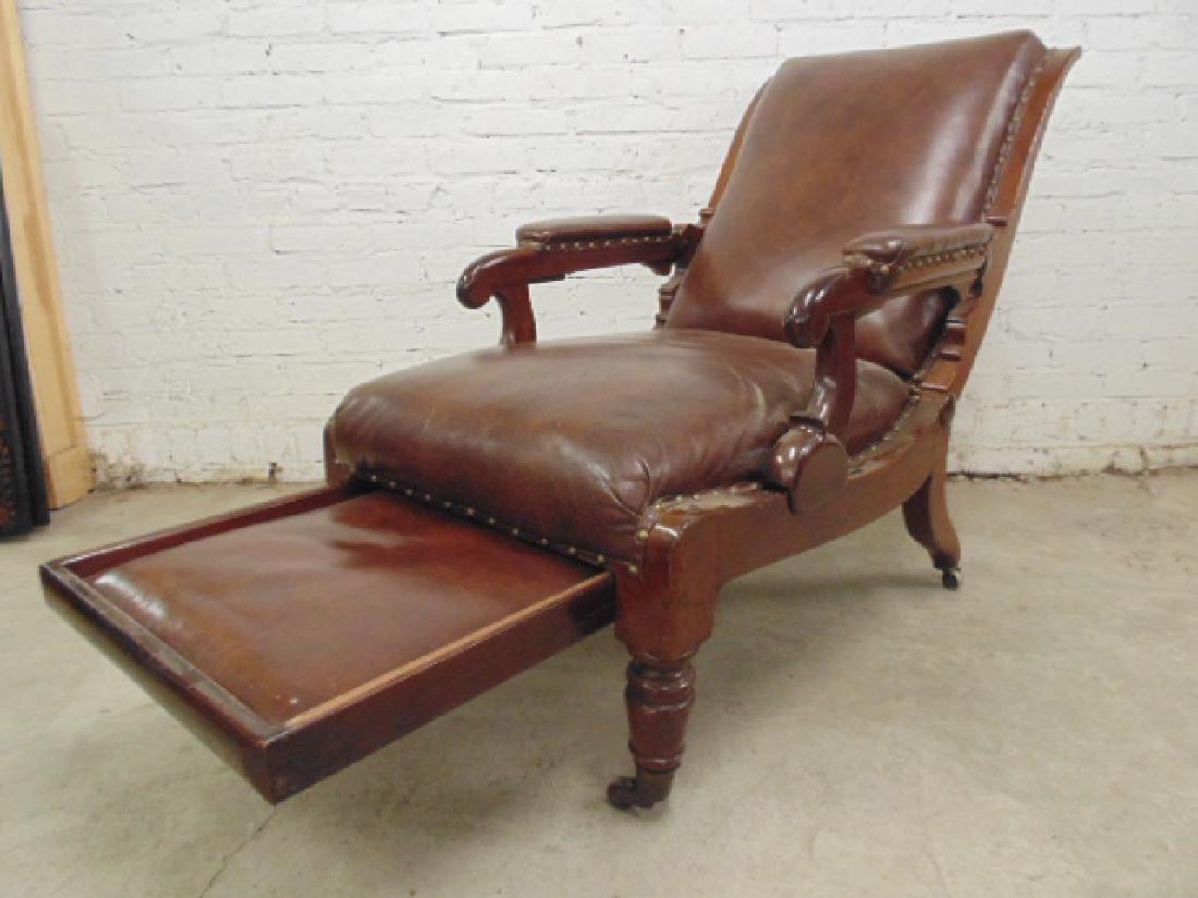 Adjustable leather mechanical recliner, - 7