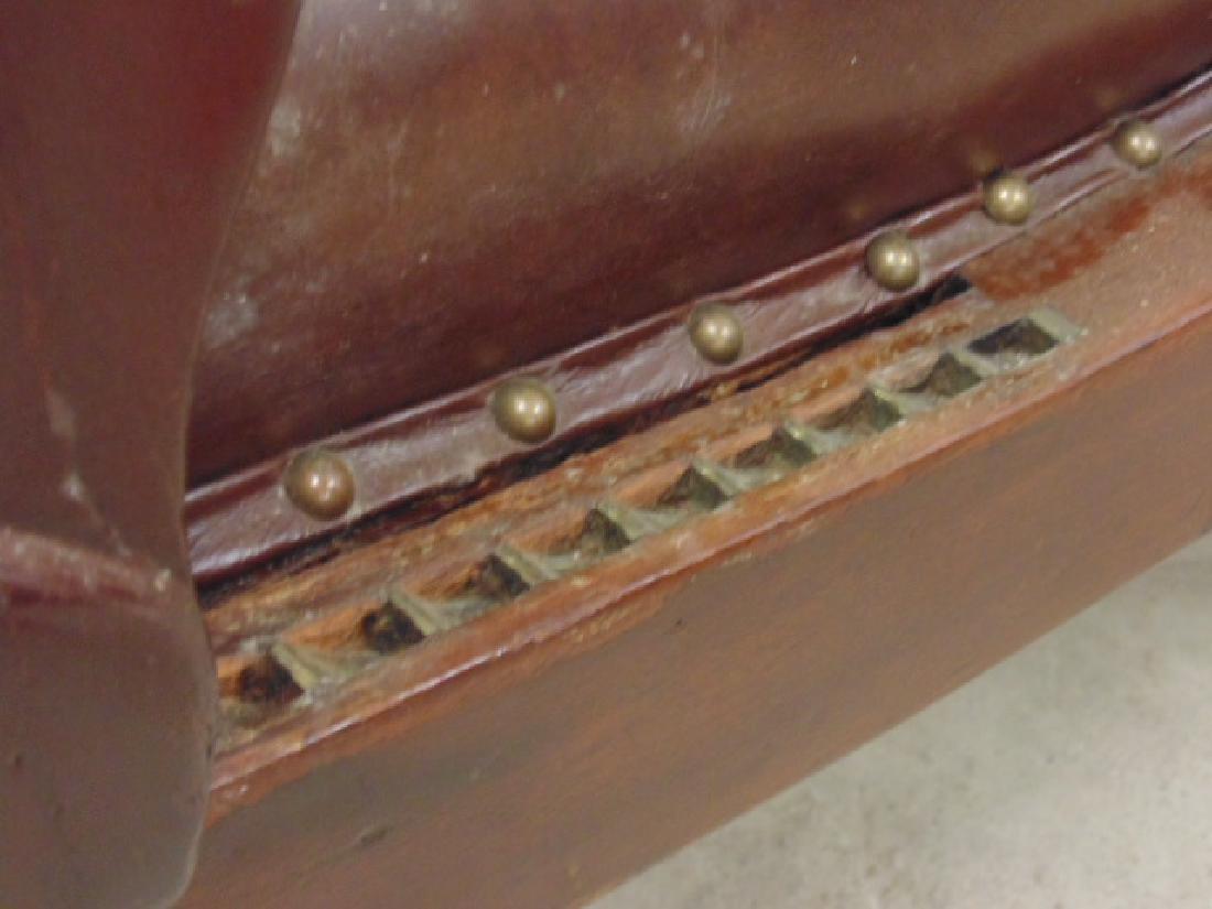 Adjustable leather mechanical recliner, - 8