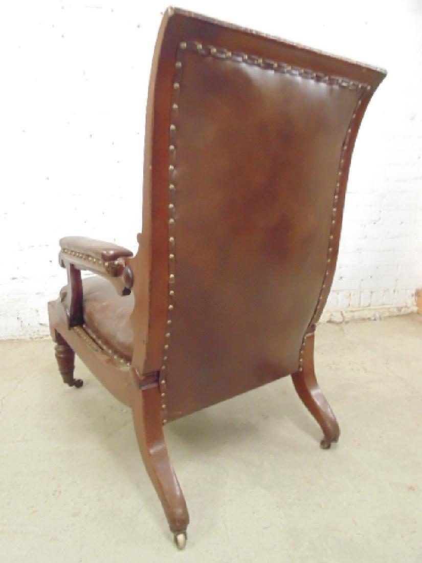 Adjustable leather mechanical recliner, - 9