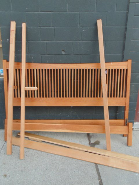 King size Stickley Audi spindle cherry bed