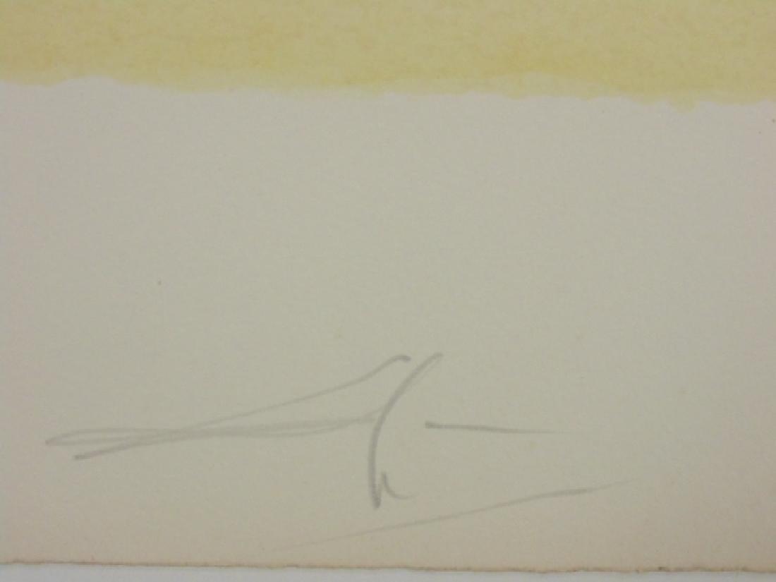 Salvador Dali lithograph, flower & figure - 6