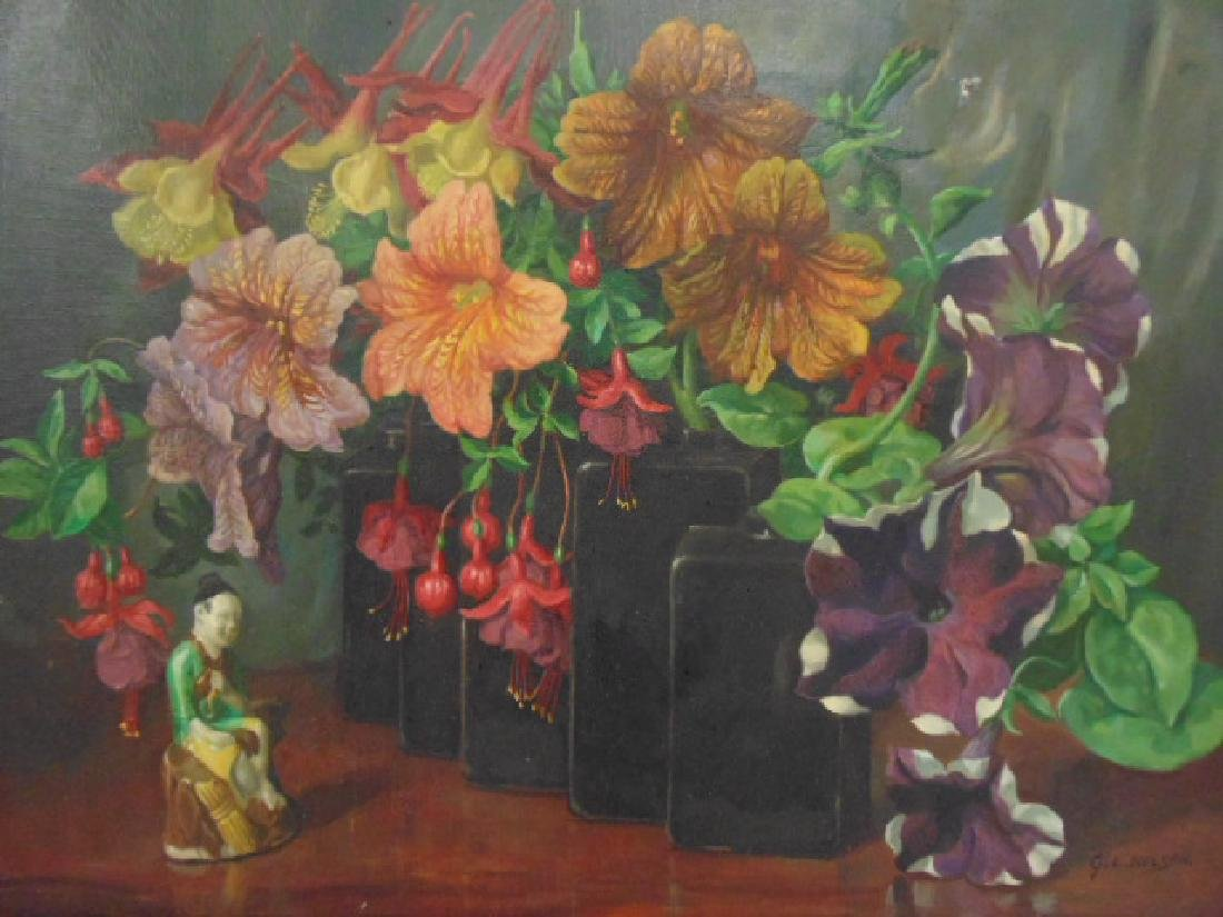 """Painting, """"Garden Flower Harmony"""",  George L. Nelson - 2"""