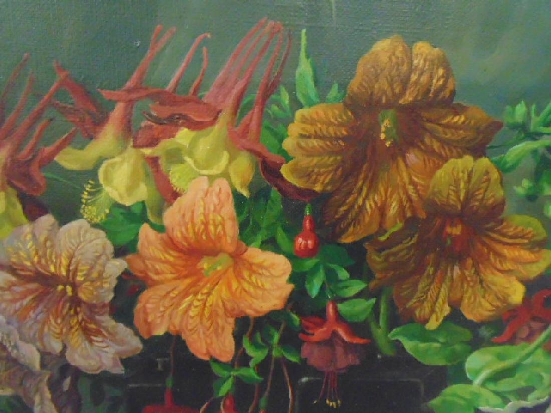 """Painting, """"Garden Flower Harmony"""",  George L. Nelson - 3"""
