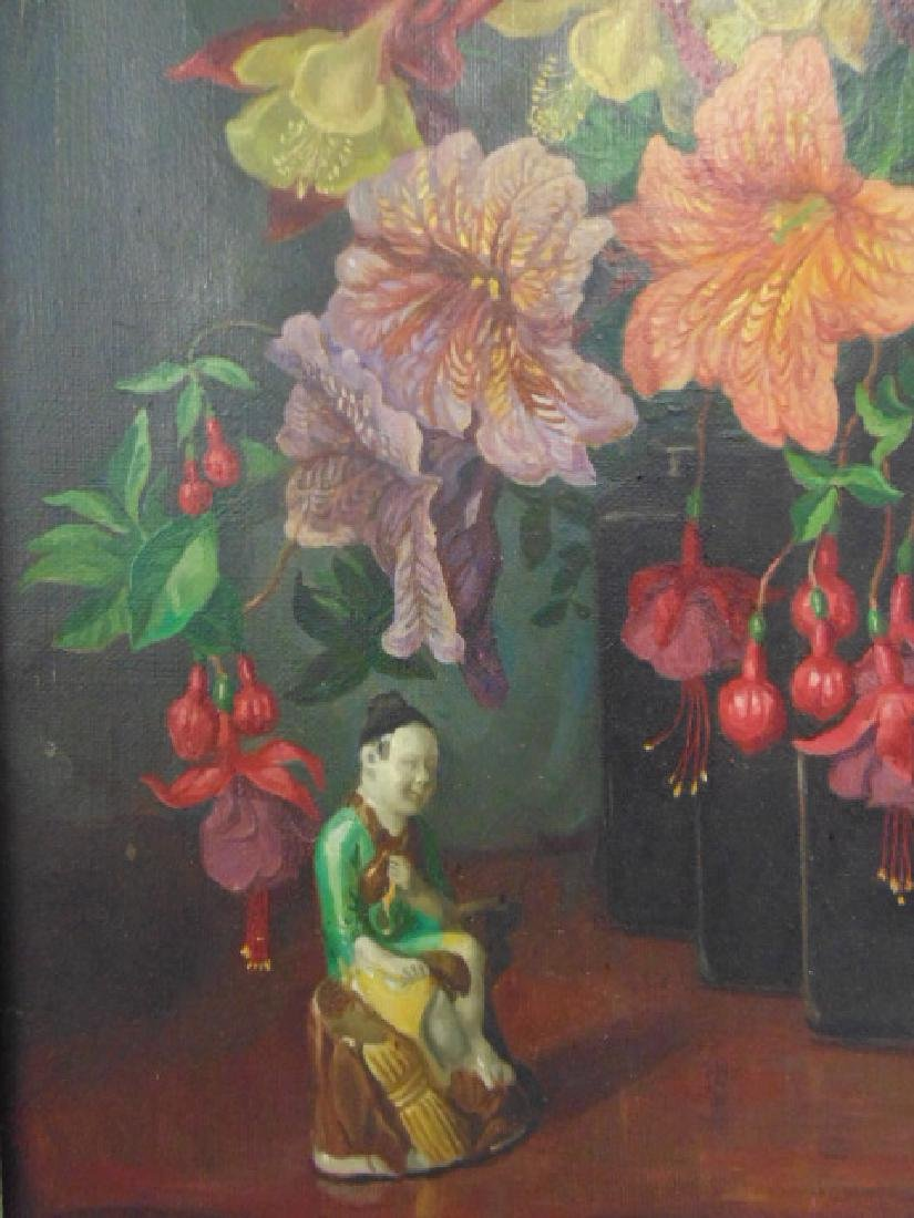 """Painting, """"Garden Flower Harmony"""",  George L. Nelson - 4"""