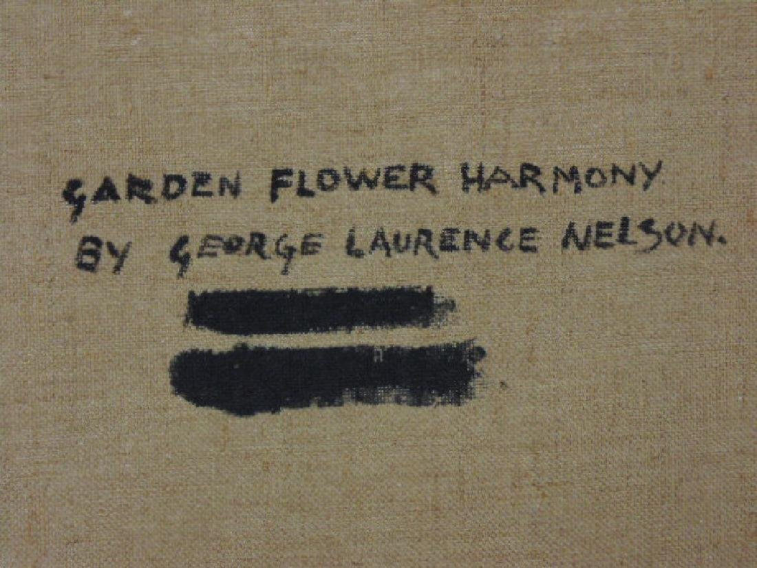 """Painting, """"Garden Flower Harmony"""",  George L. Nelson - 7"""