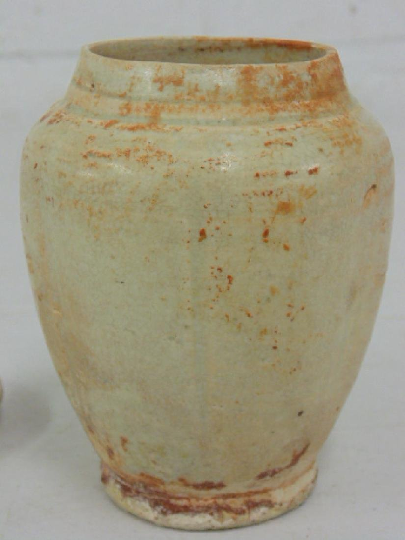 Chinese pottery vase with lid - 2