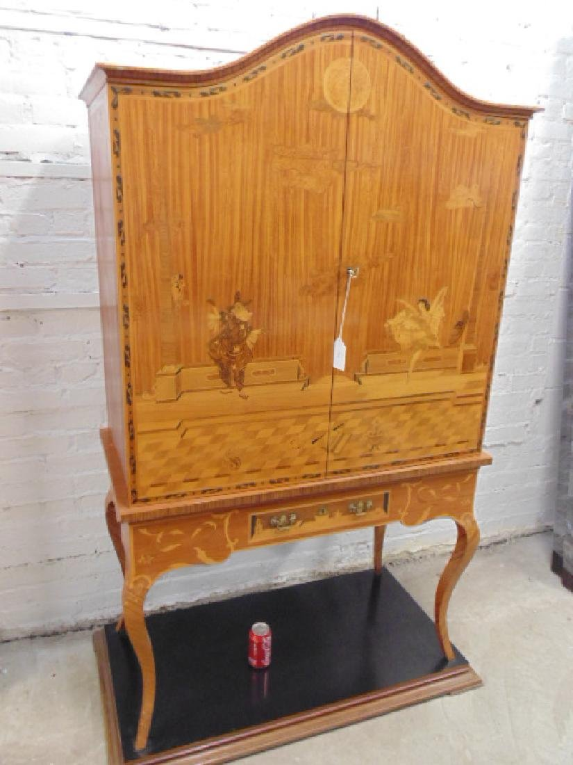 Inlaid German cabinet by Hans Reul 20th century - 2