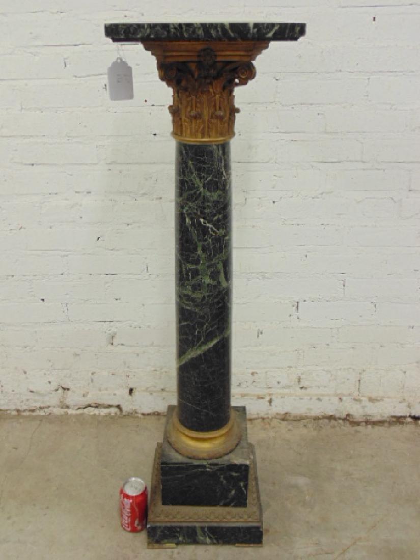 Marble & bronze pedestal