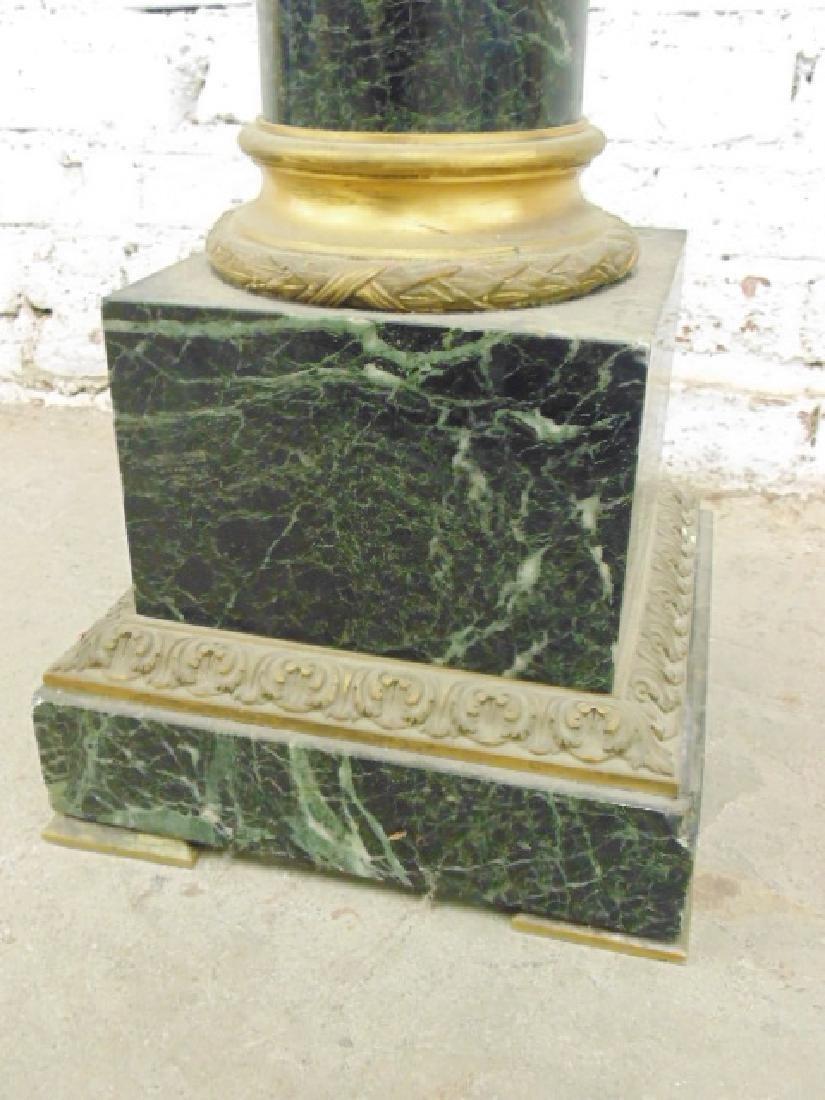 Marble & bronze pedestal - 4